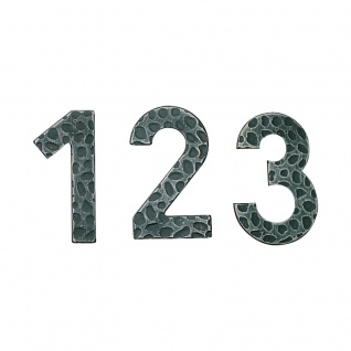 Hausnummern Schmiedeeisen schwarz verzinkt, Ziffer: 1