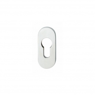 Intersteel Sicherheits-Schubrosette oval 10 mm Edelstahl poliert