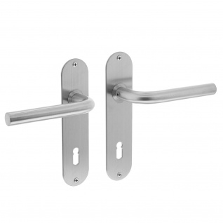 Intersteel Türklinke Gerade ø16 mm schlank auf Schild mit Schlüsselloch 72 mm Edelstahl gebürstet - Vorschau 1