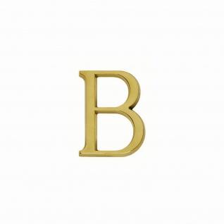Intersteel Hausbuchstabe B Messing Titan PVD