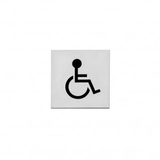 Intersteel Hinweisschilder Behindertentoilette Rechteckig selbstklebend gebürsteter Edelstahl