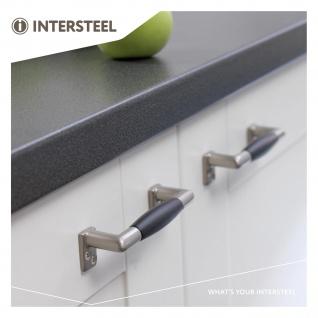 Intersteel Möbelgriff 108 mm Nickel matt schwarzes Holz - Vorschau 3