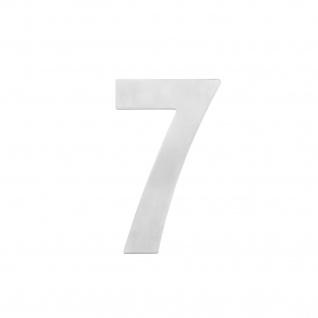Intersteel Hausnummer 7 150 x 2mm gebürsteter Edelstahl