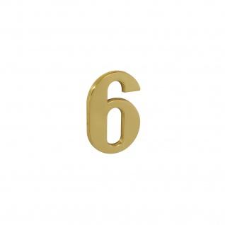 Intersteel Hausnummer 6 Messing lackiert