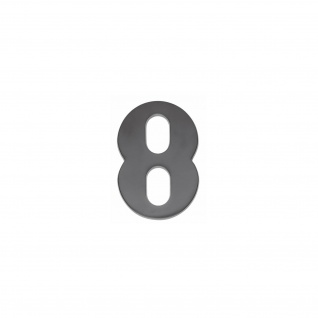 Intersteel Hausnummer 8 mattschwarzes Titan PVD