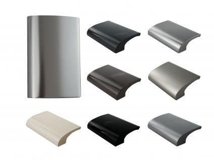 Balkongriff Ziehgriff Terrassentürgriff Deluxe verschiedene Farben - Silber eloxiert