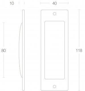 Intersteel Griffmuschel 120x40 mm Messing lackiert - Vorschau 2