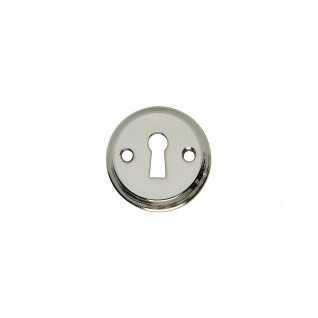 Intersteel Rosette mit Schlüsselloch und Schraublöchern Nickel