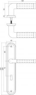 Intersteel Türklinke Marion auf Schild mit Schlüsselloch 72 mm Chrom - Vorschau 2