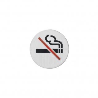 Intersteel Hinweisschilder Rauchverbot selbstklebend gebürsteter Edelstahl