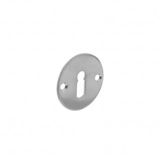 Intersteel Rosette rund flach mit Schlüsselloch 50 mm Edelstahl gebürstet