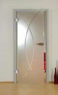Glastüre Satinato ESG Sicherheitsglas und Türbeschlägen 1972mm x 834mm