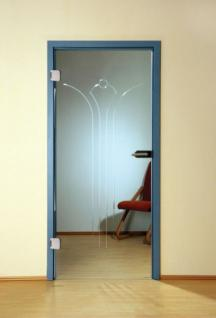 Glastüre Klarglas ESG Sicherheitsglas und Türbeschlägen 1972mm x 834mm