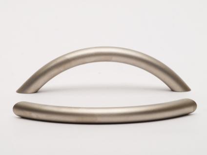 Möbelgriff Möbelknopf Schubladengriff aus Stahl Nickel matt Lochabstand 96 mm