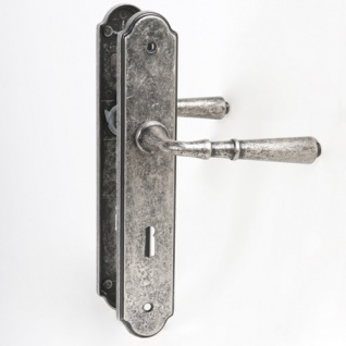 MS Beschläge® Türdrücker Türklinke mit Hochhaltefeder aus Zamak antik grau Modell 391 Antik