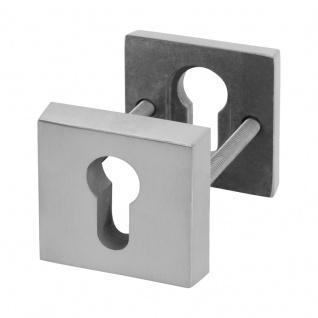 Quadrat-Schutzrosettenpaar Edelstahl matt