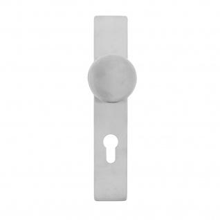 Intersteel Knauf auf rechteckigem Schild mit Profilzylinder-Lochung 72 mm Edelstahl gebürstet