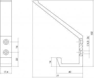 Intersteel Garderobenhaken Aluminium - Vorschau 2