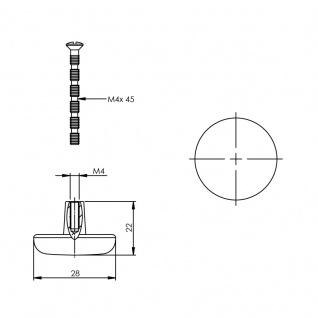 Intersteel Möbelknauf ø 28 mm Chrom - Vorschau 2
