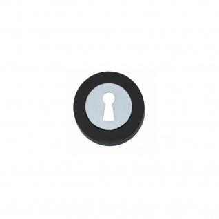 Intersteel Rosette Cali mit Schlüsselloch verdeckt Chrom