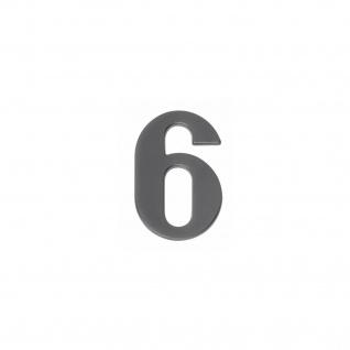Intersteel Hausnummer 6 mattschwarzes Titan PVD