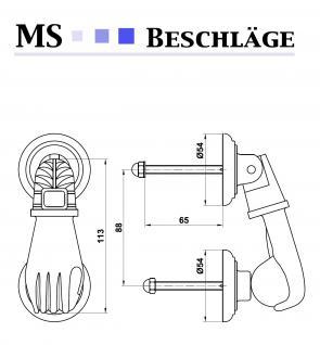 Türklopfer Haustürklopfer Türklingel Schmieseeisen Schwarz matt Modell Faust - Vorschau 5