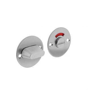 Intersteel Rosette rund flach 50 mm mit Toiletten-/Badezimmerverriegelung und 8 mm-Stift Edelstahl gebürstet