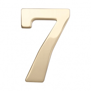 Hausnummern Messing poliert, Ziffer: 7