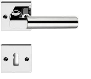 Türdrücker Türklinke Drückergarnitur Modell Chiara-RS Messig glänzend vernickelt Profilzylinder