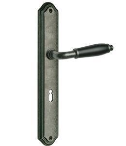 Türdrücker Türklinke Drückergarnitur Modell Micado Messing antik grau Profilzylinder