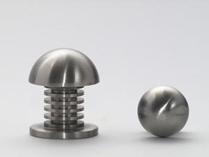 Massiv Edelstahl Möbelknopf Möbelgriff matt gebürstet verschiedene Größen und Durchmesser