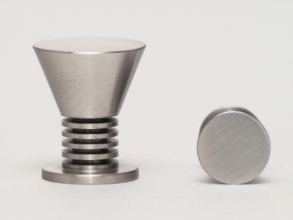 Massiv Edelstahl Möbelknopf Möbelgriff matt gebürstet verschiedene Durchmesser