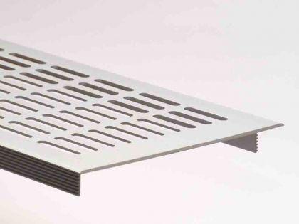 Aluminium Lüftungsgitter Stegblech Heizungsdeckel Silber eloxiert 130mm x 400mm