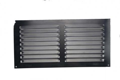 Aluminium Lüftungsgitter Silber eloxiert 150mm x 300mm mit Netz - Insektenschutz