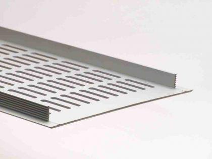 Aluminium Lüftungsgitter Stegblech Heizungsdeckel Silber eloxiert 150mm x 400mm - Vorschau 2