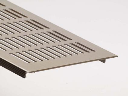 Aluminium Lüftungsgitter Stegblech Heizungsdeckel Edelstahl Optik 150mm x 400mm