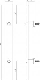 Intersteel Türgriff 400 x 40 mm Mattschwarz - Vorschau 2