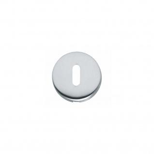 Intersteel Rosette Kugel gewölbt rund mit Schlüsselloch Chrom matt - Vorschau 1