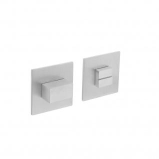 Intersteel Magnetrosette quadratisch mit Toiletten-/Badezimmerverriegelung Edelstahl gebürstet