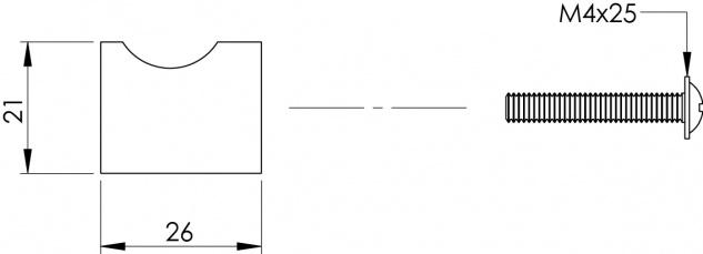 Intersteel Möbelknauf ø 21 mm Edelstahl gebürstet - Vorschau 2