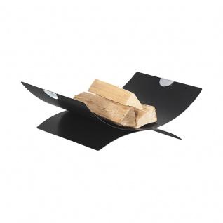 Rico 3 Holzkorb in Schwarz beschichtet, verchromt