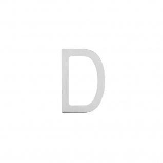 Intersteel Hausbuchstabe D 100 mm Edelstahl gebürstet