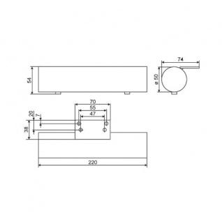 Sofafuss Sesselfuss Möbelfuss Stützfuss aus Metall in chrom glänzender Optik Höhe 54mm - Vorschau 2