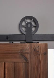 """Schiebetürsystem Schiebetürbeschlag Relingsystem Schwarz matt Modell """" Wheel Top"""" Länge 200cm - Vorschau 3"""