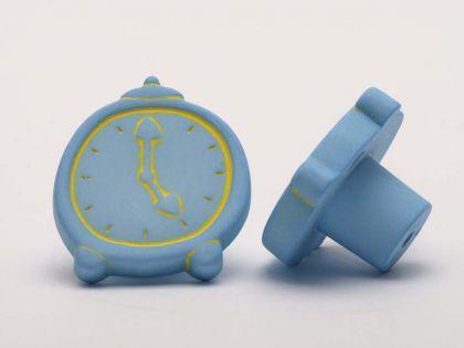Möbelknopf Schrankknopf fürs Kinderzimmer Modell Blaue Uhr ø 32mm