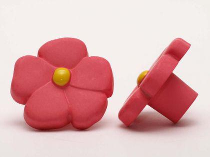 Möbelknopf Schrankknopf fürs Kinderzimmer Modell Rosa Blume ø 36mm