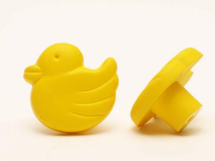 Möbelknopf Schrankknopf fürs Kinderzimmer Modell Gelbe Ente Gesamtbreite 35mm