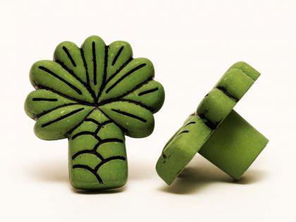 Möbelknopf Schrankknopf fürs Kinderzimmer Modell Grüne Palme Gesamtbreite 36mm