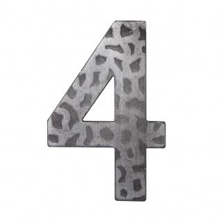 Hausnummern Schmiedeeisen schwarz verzinkt, Ziffer: 4