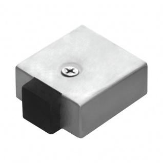 Türstopper Quadrat Edelstahl matt, Bodenmontage